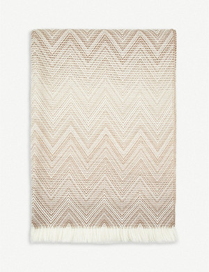 MISSONI HOME Timmy lambswool throw 190cm x 130cm