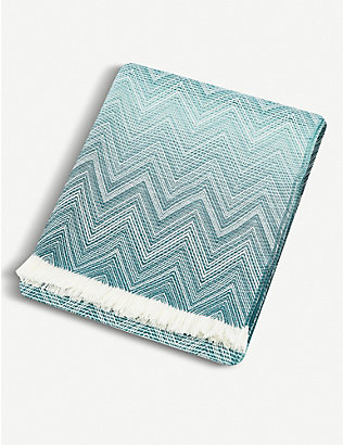 MISSONI HOME: Timmy lambswool throw 190x130cm