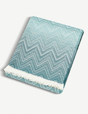 MISSONI HOME Timmy lambswool throw 190x130cm