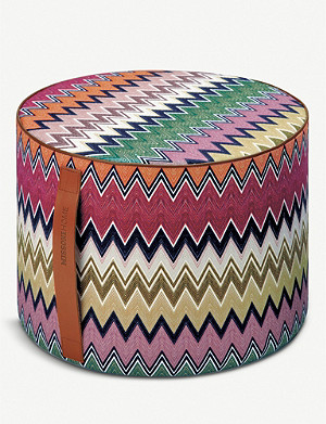 MISSONI HOME Togo linen and cotton-blend knitted pouf 30cm