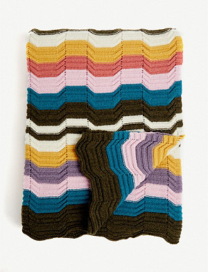 MISSONI HOME Walton wool-blend throw 180x130cm