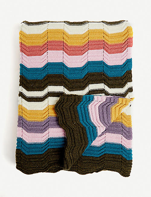 MISSONI HOME: Walton wool-blend throw 180x130cm