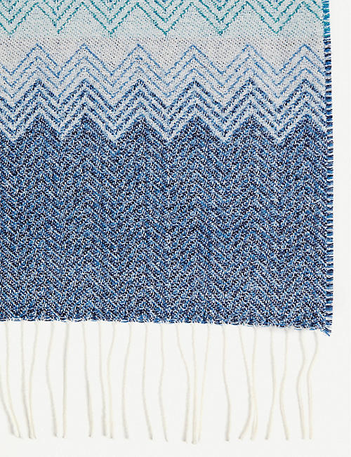 MISSONI HOME Walt zigzag wool throw 190cm x 140cm