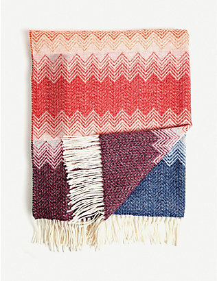MISSONI HOME: Walt zigzag wool throw 190cm x 140cm