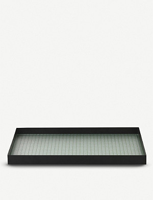 FERM LIVING Haze metal tray 45x33cm