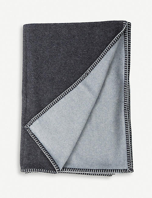 BEGG & CO. Balsas Reversible lambswool-and-cashmere throw 200cm x 140cm
