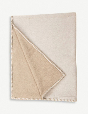 BEGG & CO. Balsas reversible lambswool and cashmere throw 140cm x 200cm