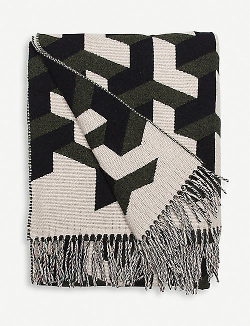 BEGG & CO. Triolux Sivill lambswool and cashmere throw 140cm x 180cm
