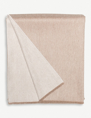 BEGG & CO. Vale Reversible lambswool and cashmere-blend throw 147cm x 200cm