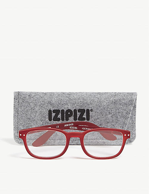 IZIPIZI #B Reading rectangle-frame glasses +2