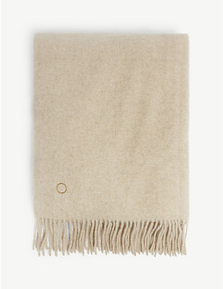 OYUNA: Uno fringed cashmere throw