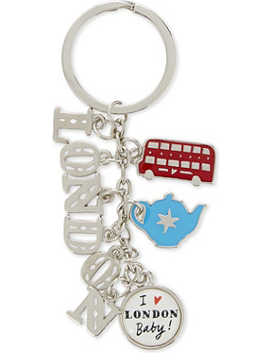 LONDON London charm keyring