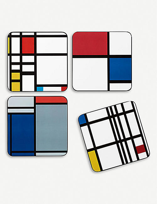 MOMA Mondrian printed coasters set of four