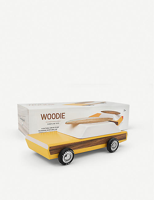 CANDYLAB Woodie wooden toy car 18.3cm