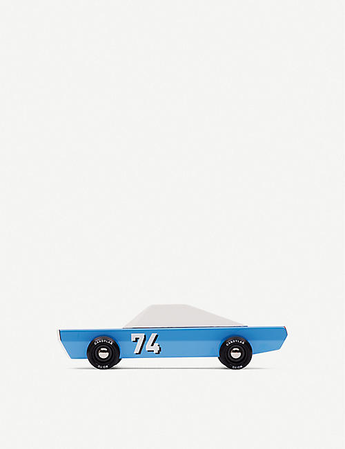 CANDYLAB Blue 74 wooden toy car 18.3cm