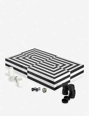 JONATHAN ADLER Op Art backgammon set