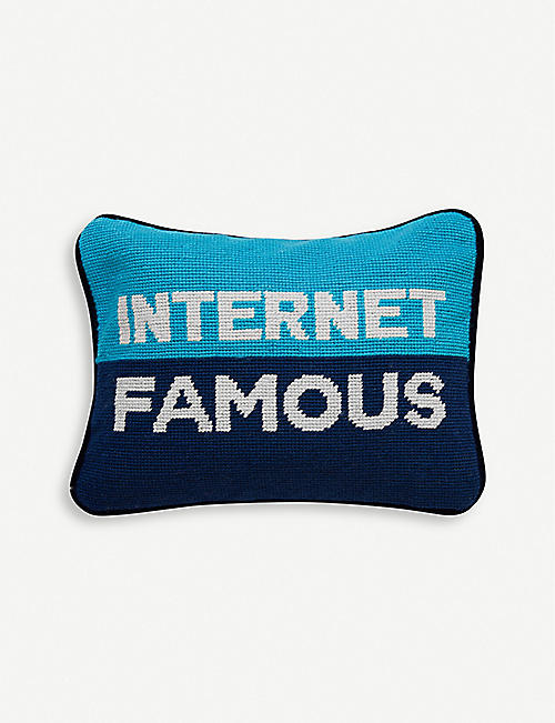 JONATHAN ADLER: Needlepoint internet famous wool pillow
