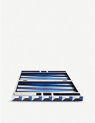 JONATHAN ADLER: Op Art wood backgammon set