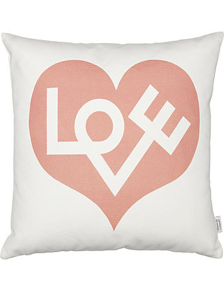 VITRA: Love graphic printed pillow