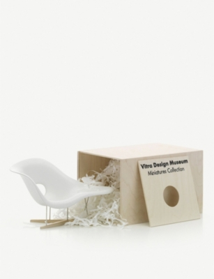 VITRA La Chaise fibreglass and iron miniature chair