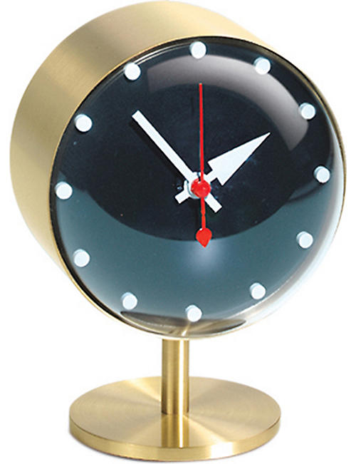 VITRA Night brass clock 15cm
