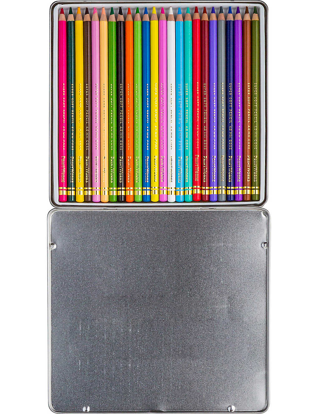 PRINT WORKS: 24 colouring pencils set
