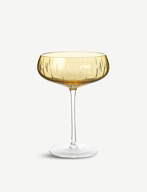 LOUISE ROE Crystal glass champagne coupe 17.5cm