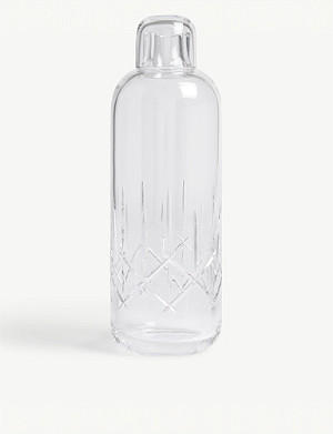 LOUISE ROE Crystal glass water bottle 29.5cm