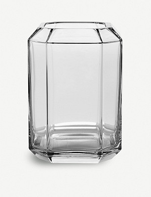 LOUISE ROE Jewel glass vase 20cm
