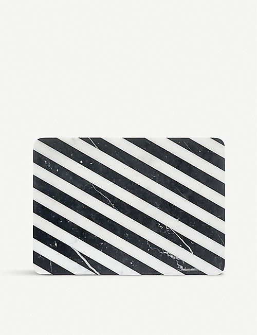 EDITIONS MILANO Alice striped marble chopping board 36cm