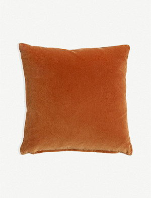 SOHO HOME Monroe large velvet cushion 65cm x 65cm