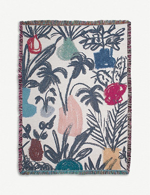 SLOW DOWN STUDIO Coltrane cotton throw 178cm x 137cm