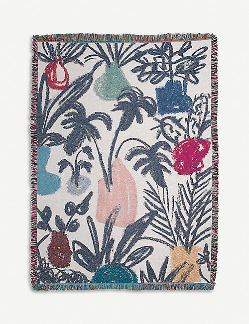 SLOW DOWN STUDIO: Coltrane cotton throw 178cm x 137cm