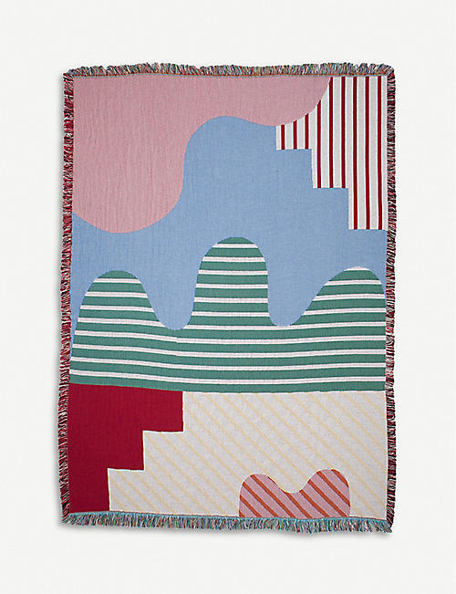 SLOW DOWN STUDIO Joplin cotton throw 137x178cm