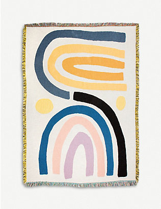 SLOW DOWN STUDIO: Perry woven cotton throw 178x137cm
