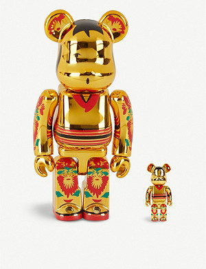 BE@RBRICK Kokeburick gold-plated 100% & 400% figures set of two