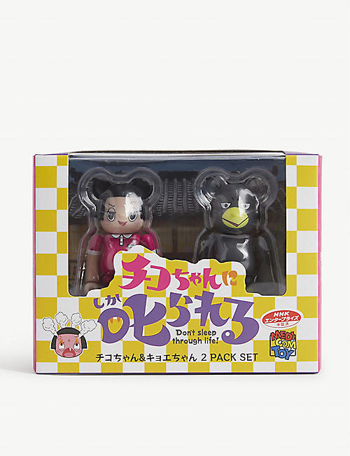BE@RBRICK: Set of two Chiko-chan and Kyoe-chan figures