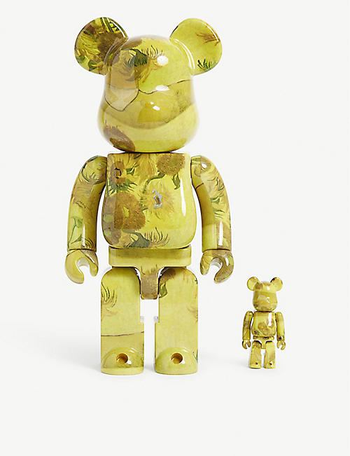 BE@RBRICK Van Gogh Museum Sunflowers 100% & 400% figures set of two