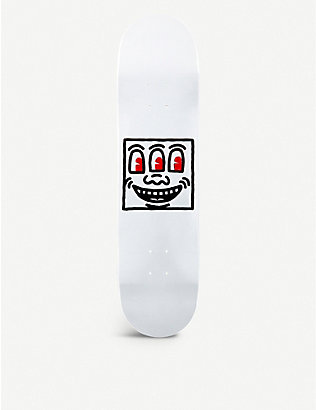 THE SKATEROOM: Keith Haring monster smile-print wooden skateboard deck