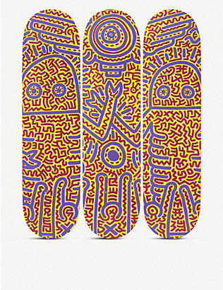 THE SKATEROOM: Keith Haring 1984 skateboard set of three