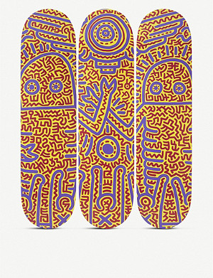 THE SKATEROOM Keith Haring 1984 skateboard set of three
