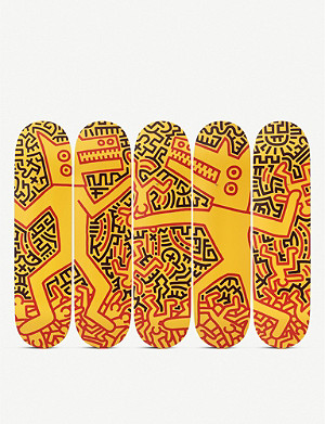 THE SKATEROOM Keith Haring monsters skateboard set of five