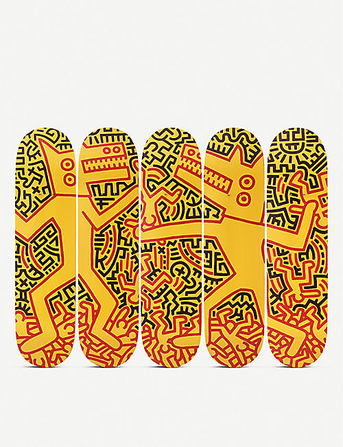 THE SKATEROOM: Keith Haring monsters skateboard set of five