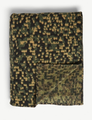 ONENINEEIGHTFIVE Camouflage-print cotton-blend throw
