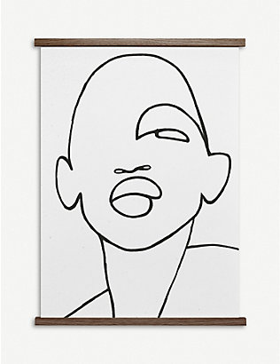 PAPER COLLECTIVE: Peytil Faberge graphic-face poster 50x70cm