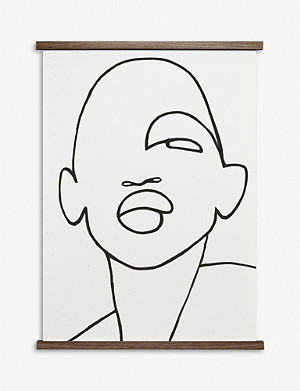 PAPER COLLECTIVE Peytil Faberge graphic-face poster 50x70cm