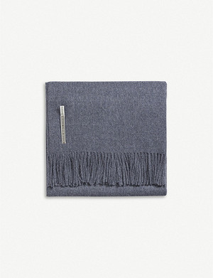 ALICIA ADAMS ALPACA Classic fringed alpaca wool throw