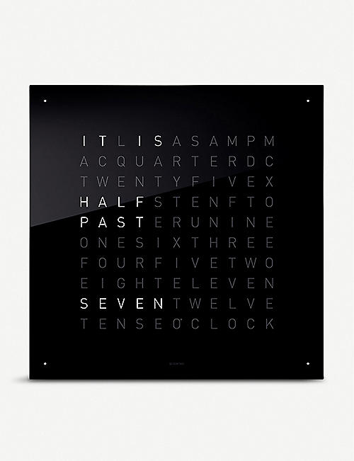 QLOCKTWO: Classic Black Ice Tea acrylic glass clock 45cm