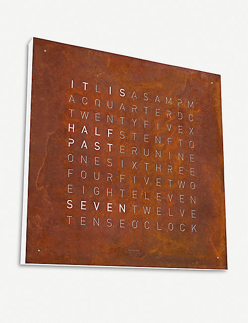 QLOCKTWO Creator's Edition rust steel clock 45cm