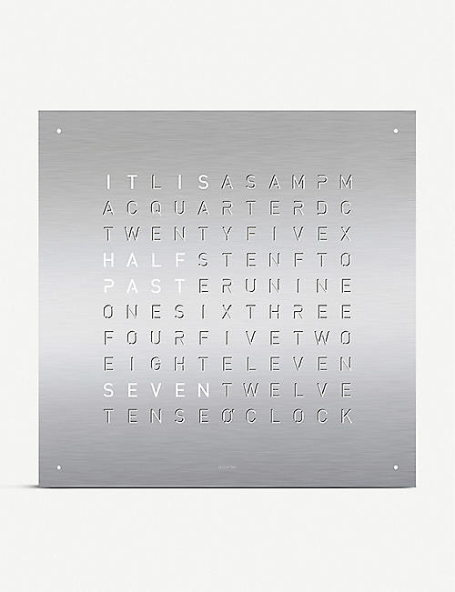 QLOCKTWO: Classic English stainless steel clock 45cm
